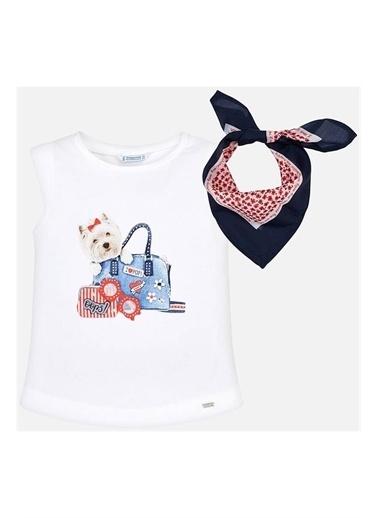 Mayoral Mayoral Yazlık Kız Çocuk Kolsuz T-shirt 3019 Lacivert